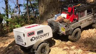 Traxxas TRX-4 | Defender D110 Hard Body l Climbing with a trailer