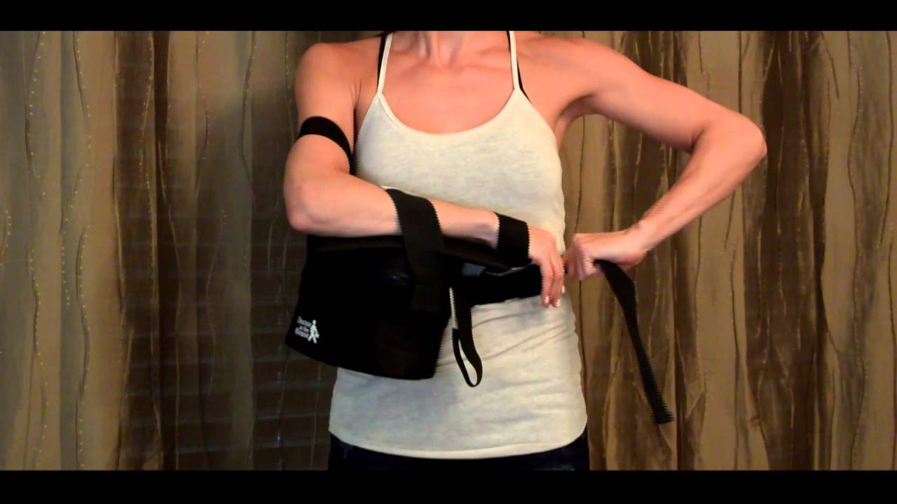 The Ultimate Arm Sling Shoulder Immobilizer and Abduction
