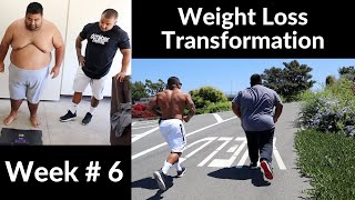 Weight-Loss Transformation | Week 6 Weigh In | Outdoor Workout *No Weights Needed*