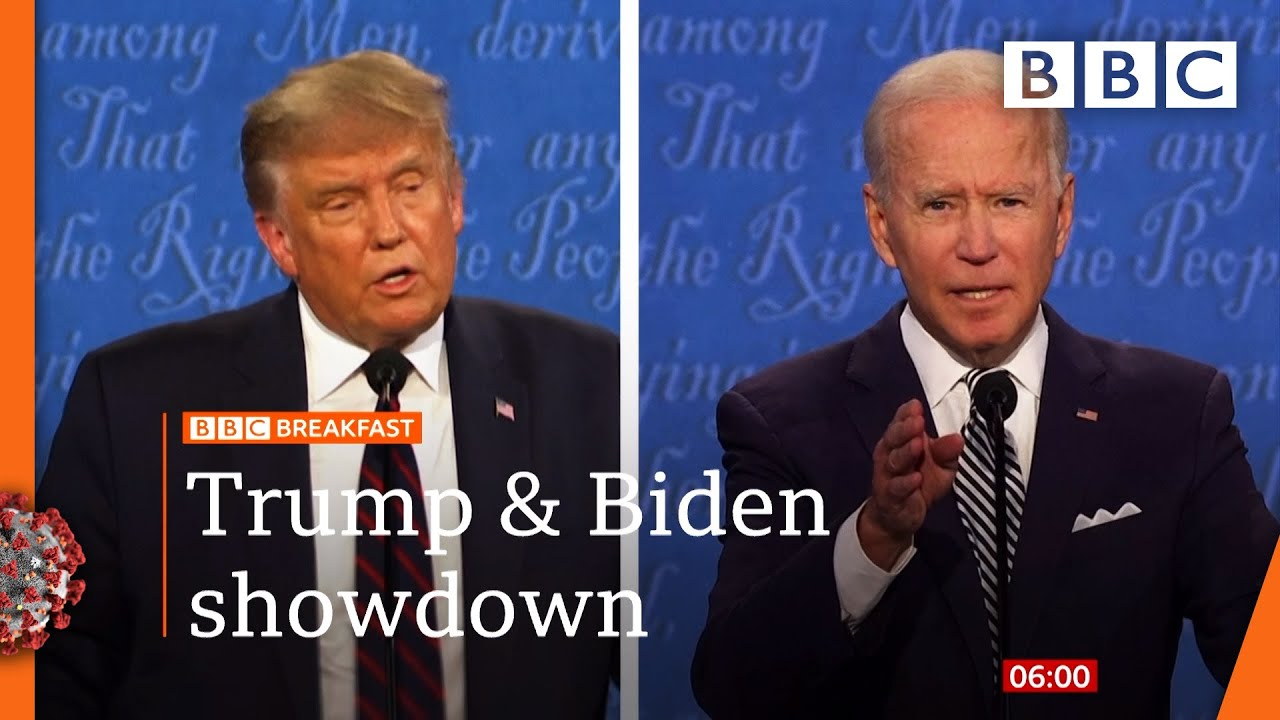 Trump and Biden duel in chaotic, bitter debate - US election 2020 @BBC News LIVE on iPlayer