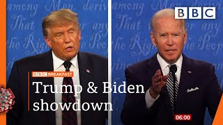 Trump and Biden duel in chaotic, bitter debate - US election 2020 @BBC News LIVE on iPlayer 🔴 - BBC