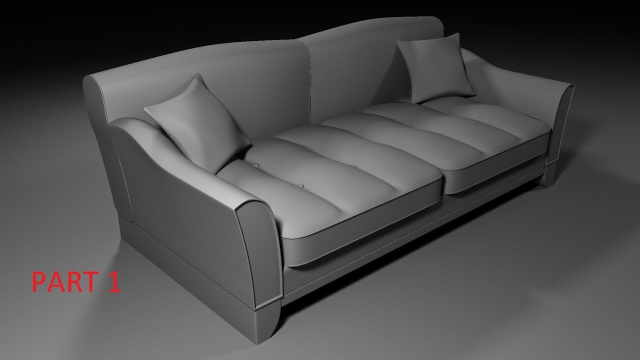Sofa Modeling Maya 2018 Part 1 For Beginners Youtube