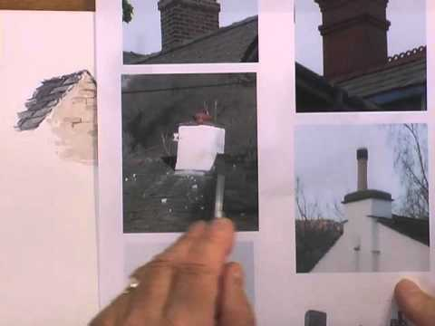 Painting Buildings in Watercolour - Chimneys Short & Tall