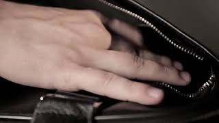 видео Вместительная деловая сумка BRIALDI Manchester (Манчестер) black