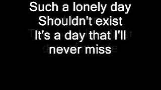 System of a Down Lonely Day + lyrics