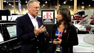 Tom duPont of The duPont REGISTRY with Shari Hale the CEO of Lorinser In Las Vegas Barrett Jackson