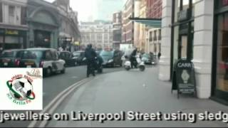 CCTV of a jewellery robbery on Liverpool Street