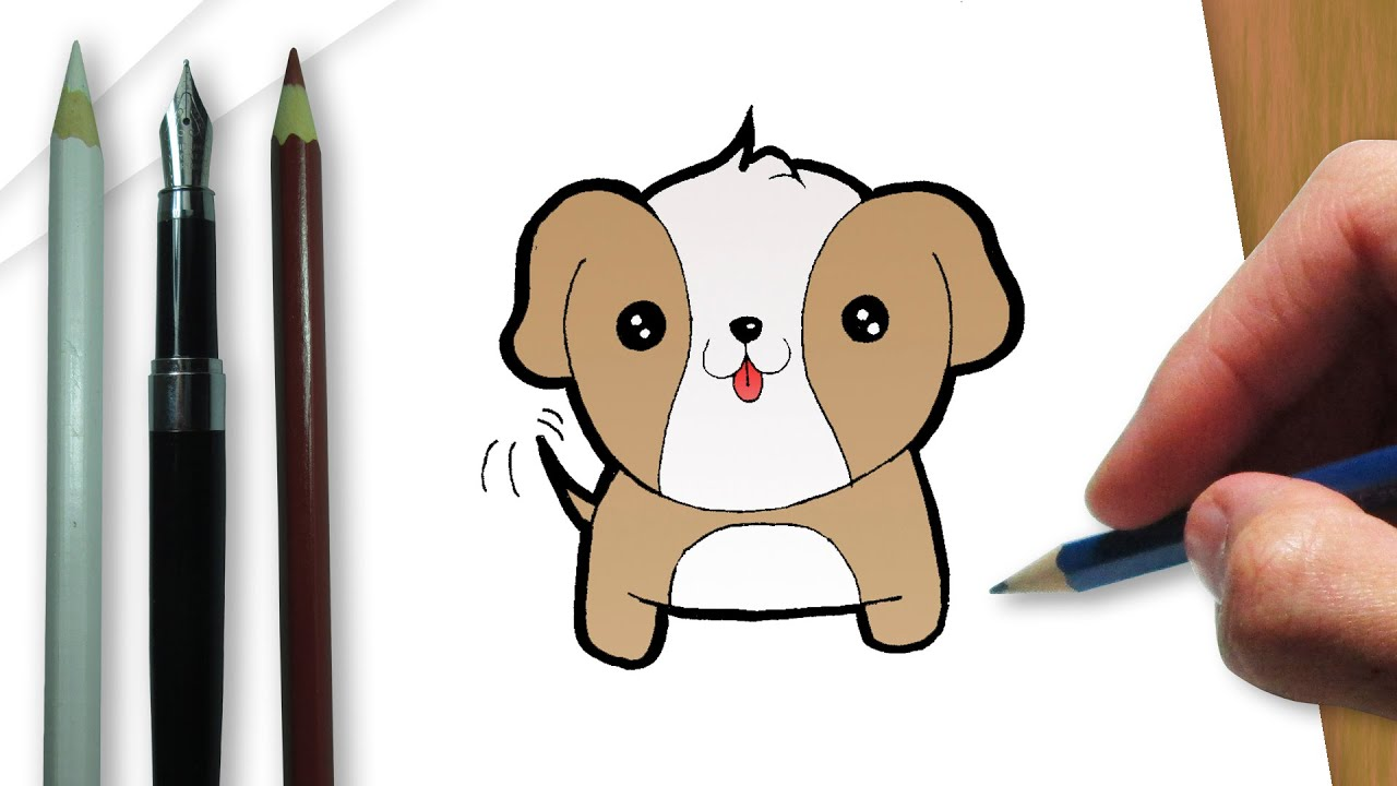 How to draw a kawaii dog