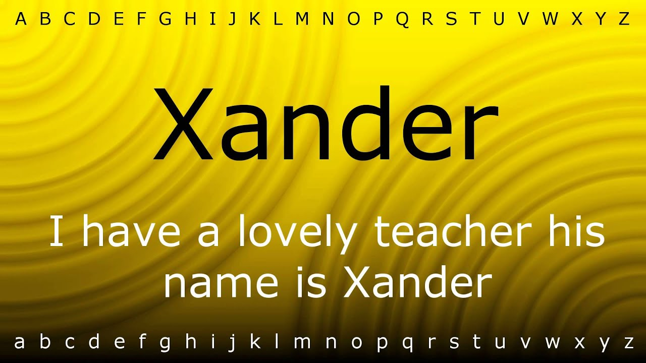 how to say xander in japanese