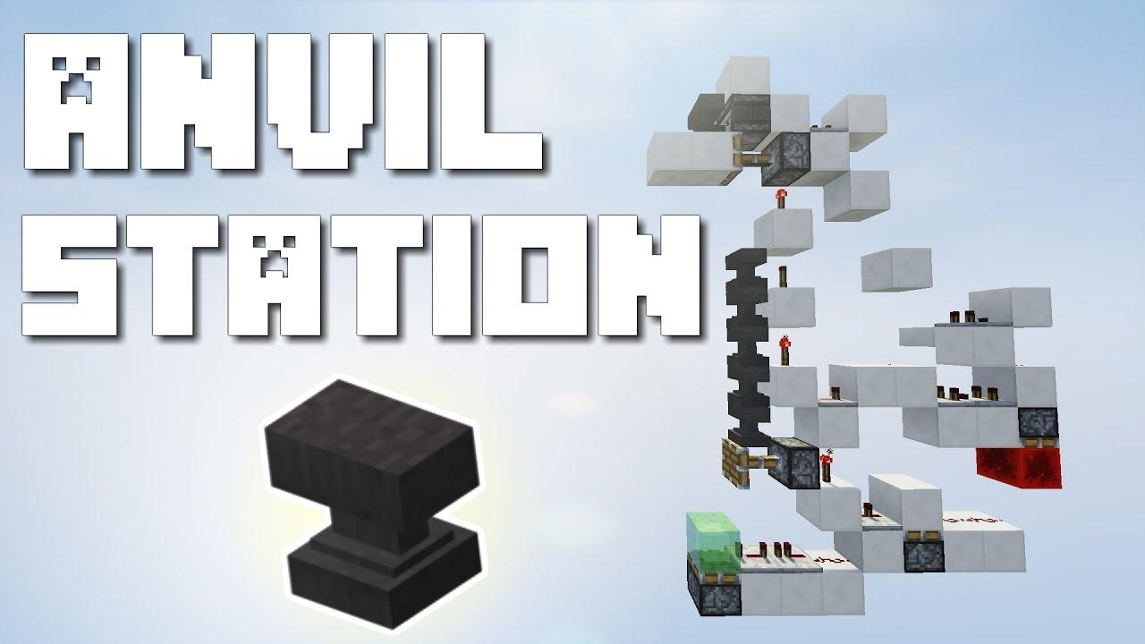 Minecraft: Anvil Refilling Station [1.11 Tutorial] - YouTube