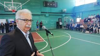 Θ υπουργός Παιδείας Κώστας Γαβρογλου στους διασυνοριακούς αγώνες στην Πρεσπα