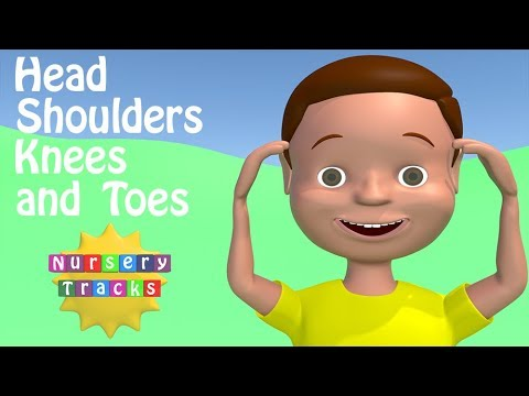 Head, shoulders, knees and toes  toddler activities song  NurseryTracks