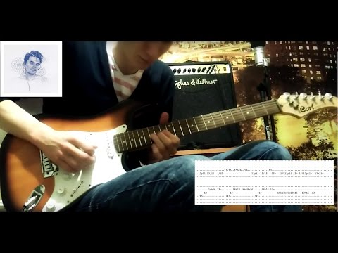 John Mayer - In the Blood (Guitar Solo Cover + TABS).