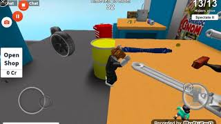 Playing roblox obb and hide and seek