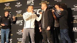 UFC 218 Media Day: Eddie Alvarez vs. Justin Gaethje staredown