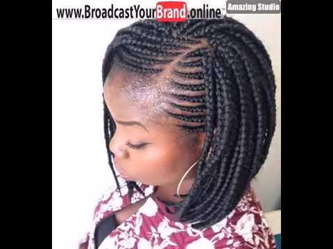 cornrows box braids bob hairstyle