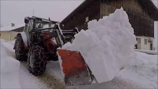 Schneechaos 2019 | Winterlandschaft | St. Koloman | Massey Ferguson | Steyr | Lasco | austria alps
