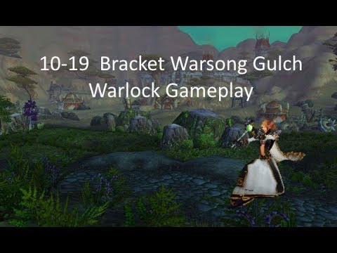 World of Warcraft 10-19 Warsong Gulch   Level 19 Warlock Twink