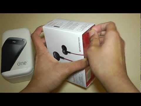 HTC One S Unboxing and First Look + Monster in Ear-Earphones