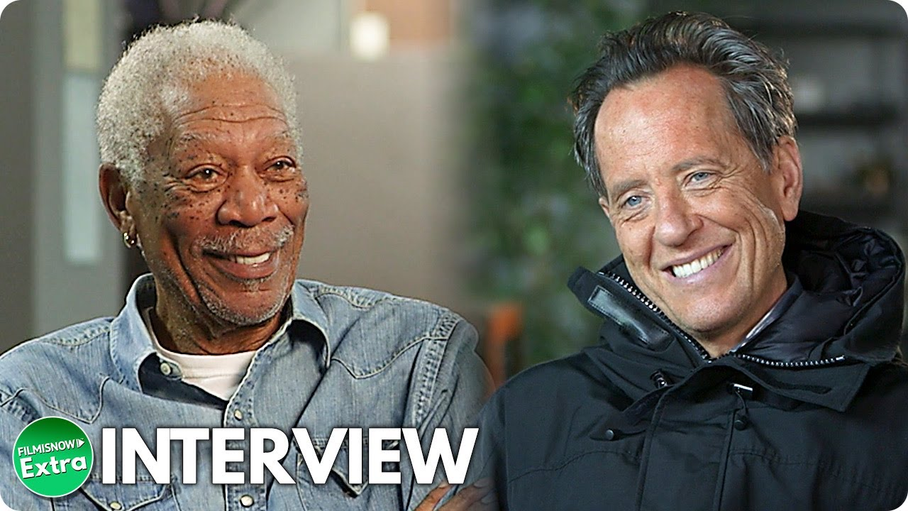 THE HITMAN'S WIFE'S BODYGUARD | Morgan Freeman & Richard E. Grant On-set Interview