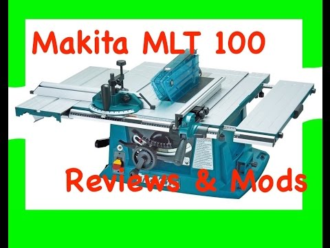 Makita MLT100 portable Contractors site Table saw review and modifications  YouTube