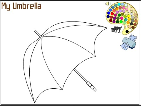 umbrella coloring pages for kids umbrella coloring pages