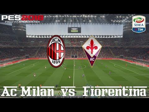 PES 2018 (PC) AC Milan v Fiorentina | REALISTIC SERIE A PREDICTION | 20/5/2018 |1080P 60FPS