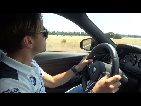 BMW M3 crazy drifting on track with...