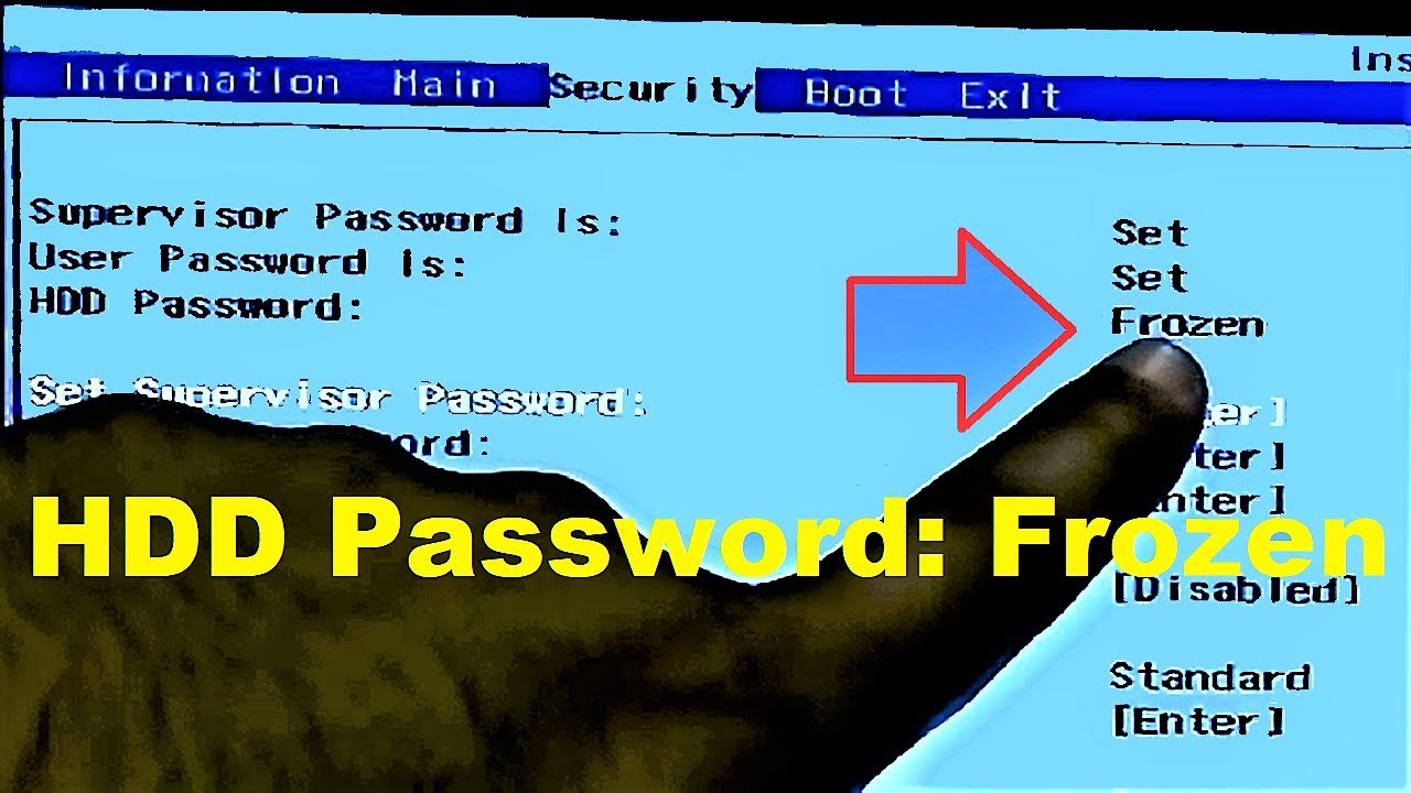How to Clear HDD Password: Frozen (Acer BIOS)