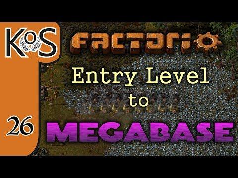 Factorio: Entry Level to Megabase Ep 26: ROBOTS & ROBOPORTS! - Tutorial Series Gameplay
