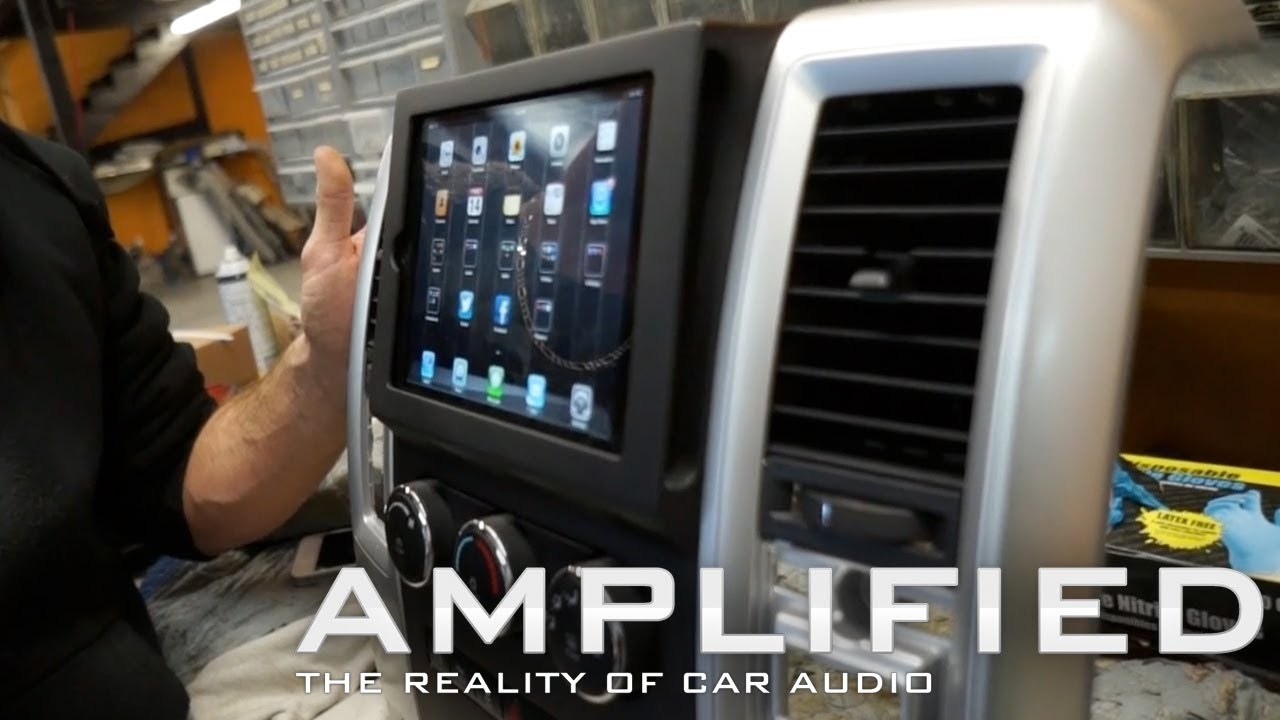 Amplified - iPad mini Dodge Ram install, Custom Fiberglass ...