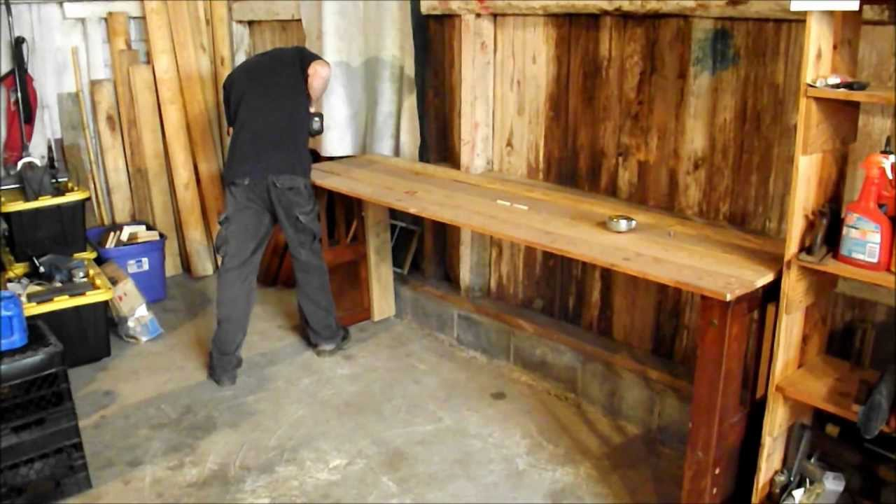 Diy How To Make A Homemade Wood Workbench Free Youtube