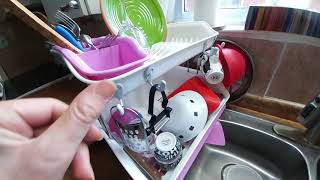 59 - Two-tier plastic dish rack