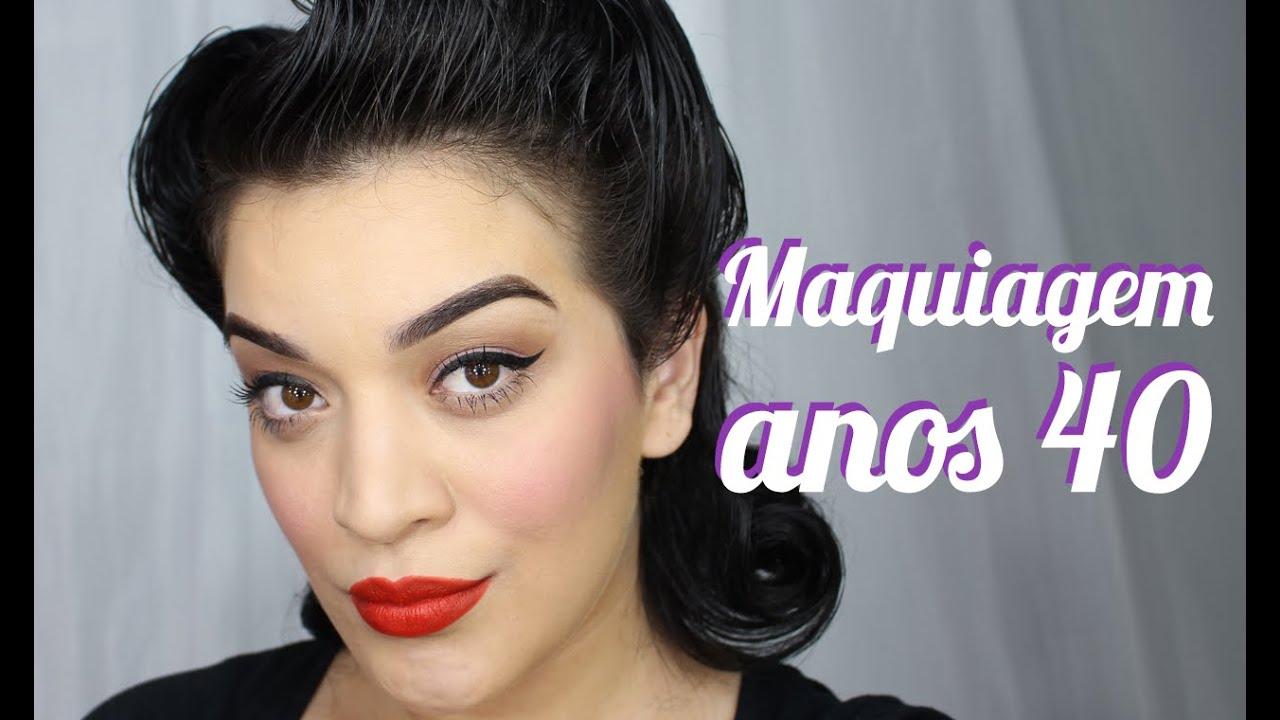 Maquiagem anos 40 felicitt looks youtube for Mobilia anos 40