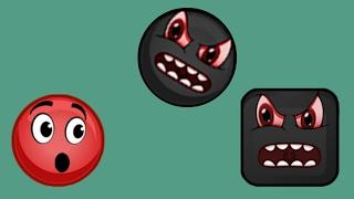 КРАСНЫЙ ШАР против чёрных шаров и квадратов. Мультик ИГРА для детей на Игрули TV. Red Ball Roll