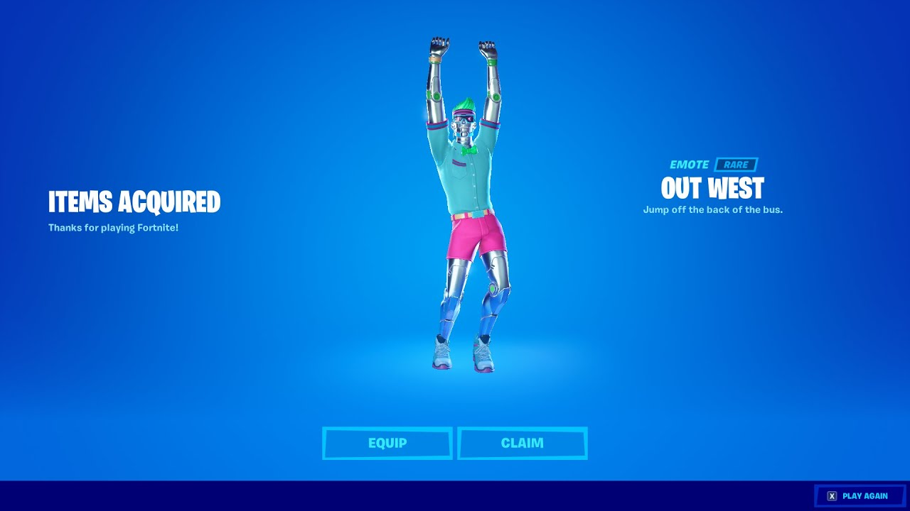 New OUT WEST Emote in Fortnite! (ITEM SHOP)