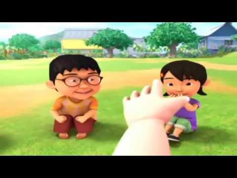 Upin & Ipin Lagu Nenek Si Bongkok Tiga HD