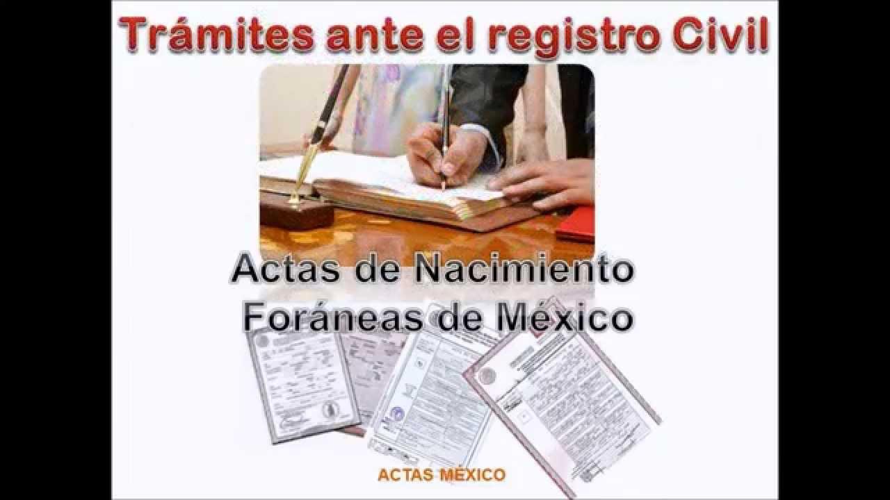 ACTAS DE NACIMIENTO EN LINEA CON ENVIO A DOMICILIO - YouTube