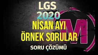 LGS NİSAN Ayı Örnek Sorular 2020 MEB Matemetik