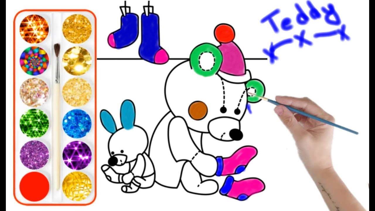 Drawing For Kids Ready Teddy For Christmas Party Very Easy Step