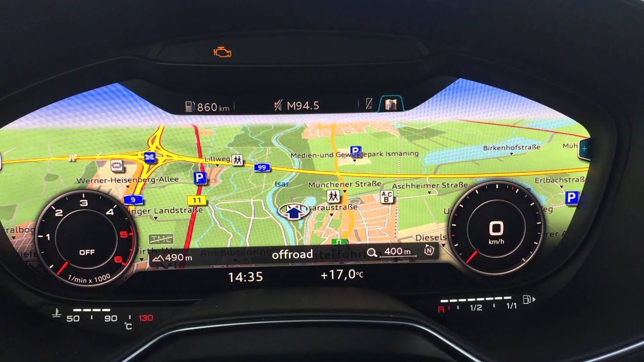 Watch New Audi Virtual Cockpit Live Pov 2016 Audi Tt