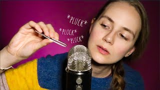 ASMR Fast Plucking Away Everything Bad (Tweezers, Hand Sounds, Trigger Words)