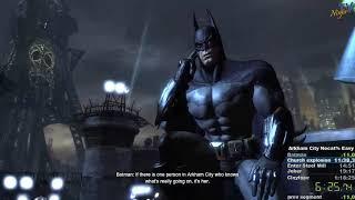 Batman: Arkham City speedrun any% easy in 1:15:23 (Old)