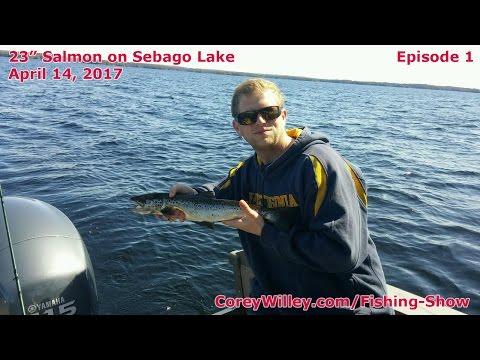 Best Salmon Fishing Sebago Lake | Lake Trout Sebago Lake Maine | Corey Willey YouTube Fishing Shows