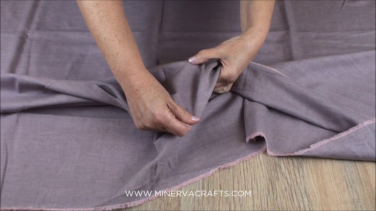 0cee2a41952 Brushed Cotton Twill Fabric - YouTube