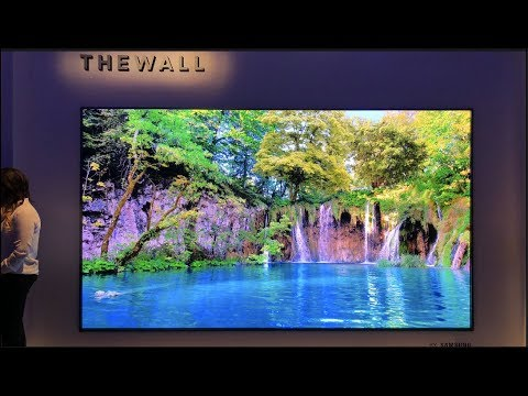 Samsung presenta el primer TV 8K Modular THE WALL Evento Samsung #CES 2018