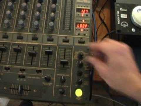 A look at the Sampler on the Pioneer DJM-600 mixer