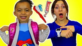 Put On Your Shoes Song   Hurry Up Morning Routine Nursery Rhymes & Song for Kids
