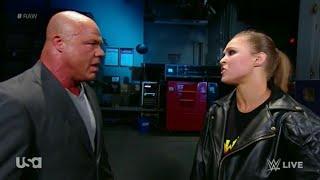 Ronda Rousey es Suspendida por 30 días por Kurt Angle Raw. 18, June 2018