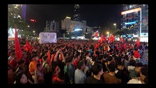 Vietnam Vs Indonesia Final football match of the year at Nguyen Hue Walking Street Part 1
